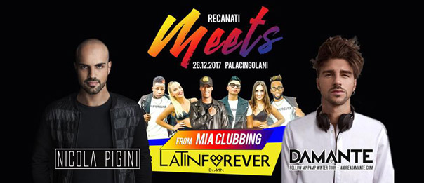 Recanati meets: Andrea Damante - Nicola Pigini - Latin Forever al Palacingolani a Recanati