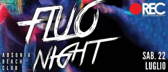 "Rec ""Move your saturday"" fluo night all'Ausonia Beach Club di Trieste"