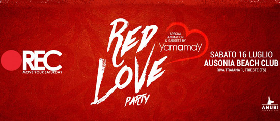 Rec Red Love Party all'Ausonia Beach di Trieste