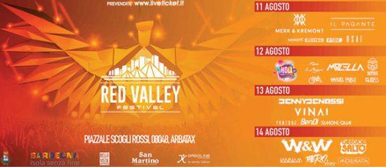 Red Valley Festival 2017 al Piazzale Scogli Rossi a Àrbatax