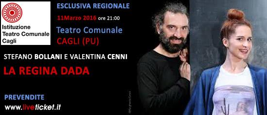 """Stefano Bollani e Valentina Cenni """"La regina Dada"""" al Teatro di Cagli"""