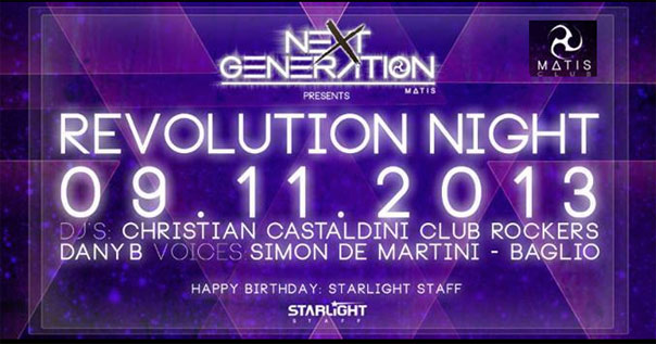 Revolution Night al Matis a Bologna