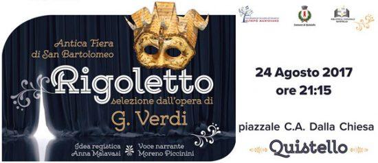 Rigoletto in Piazza Carlo Alberto dalla Chiesa a Quistello