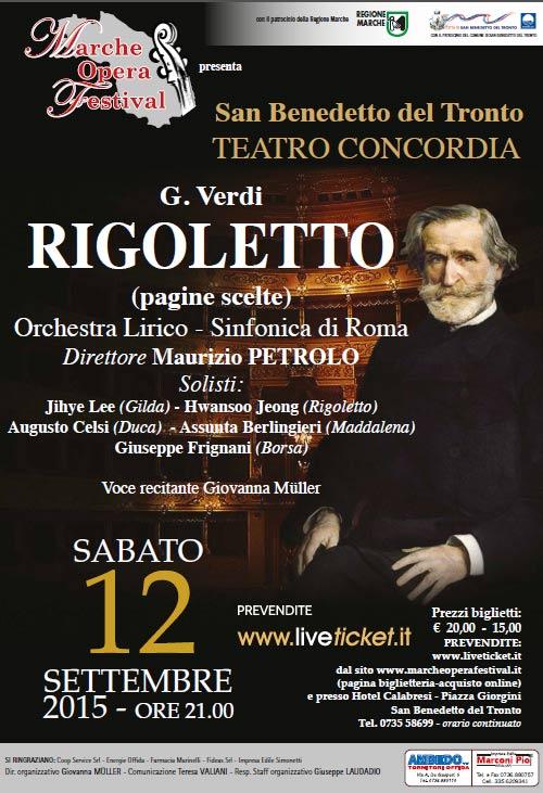 Il Rigoletto al Marche Opera Festival a San Benedetto del Tronto