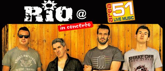 Rio in concerto all' Area51