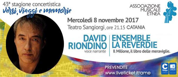 Riondino, LaReverdie. Il Milione, il libro delle meraviglie al Teatro Sangiorgi a Catania