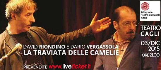 """David Riondino e Dario Vergassola in """"La traviata delle camelie"""" al Teatro di Cagli"""