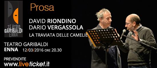 """Dario Vergassola e David Riondino in """"La Traviata delle Camelie"""" al Teatro Garibaldi di Enna"""