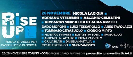 Rise up! - Musica e parole per Castelluccio di Norcia all'Officine Grandi Riparazioni a Torino