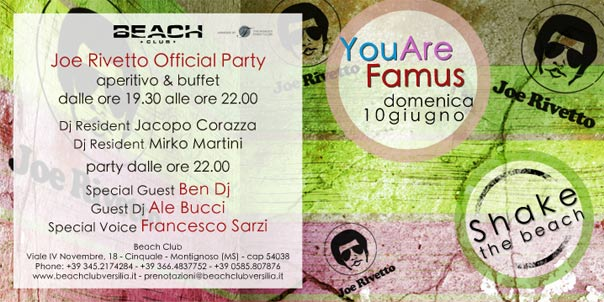 You are Famous, Jo Rivetto Official Party