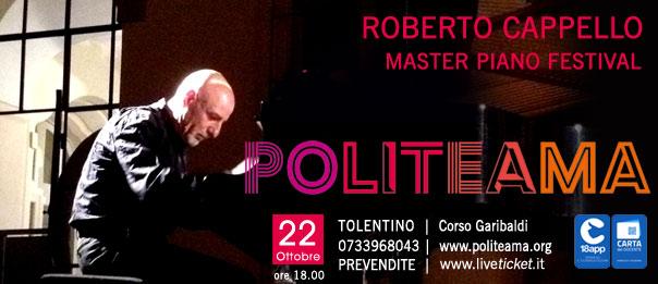 Roberto Cappello - Master piano festival al Politeama di Tolentino