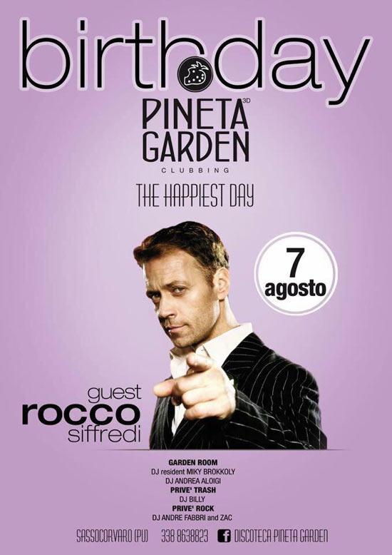 Rocco Siffredi al Pineta Garden Clubbing