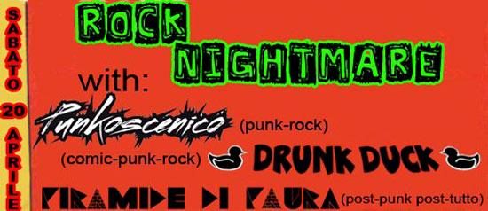 """""""FatCat Live Rock Nightmare"""" al Circolo Cafè di Dervio"""