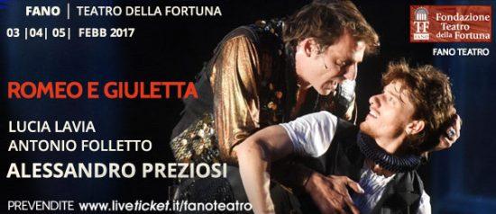 """Alessandro Preziosi """"Romeo e Giulietta"""" al Teatro Della Fortuna a Fano"""