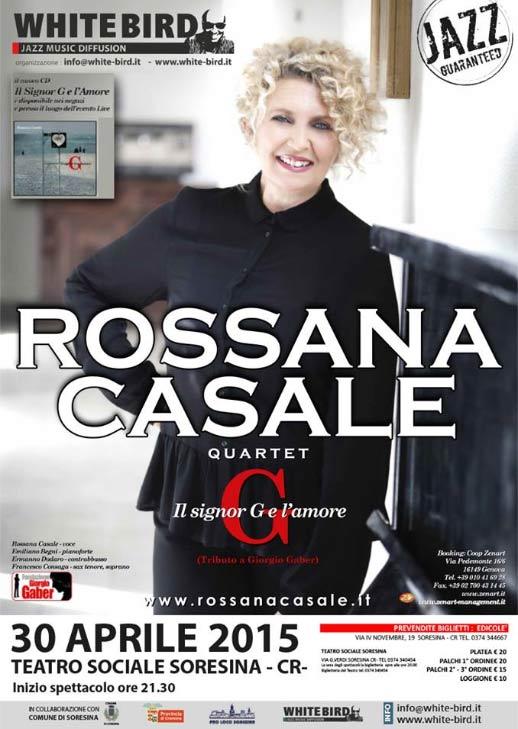 Rossana Casale quartet al Teatro Sociale Soresina