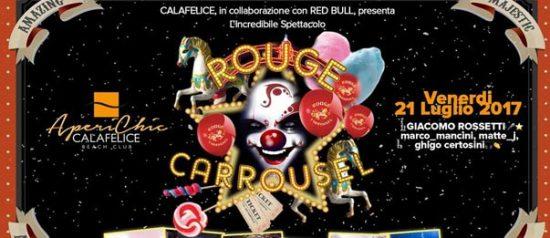 """Aperichic"" Rouge Carrousel special show al Cala Felice Beach Club a Puntone"