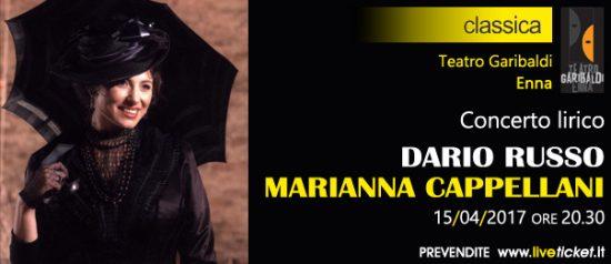 """Dario Russo e Marianna Cappellani """"Lirica"""" al Teatro Garibaldi di Enna"""