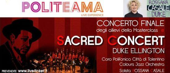 """""""Sacred Concert"""" di Duke Ellington al Politeama di Tolentino"""