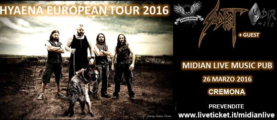 Sadist + guest al Midian Live Pub di Cremona