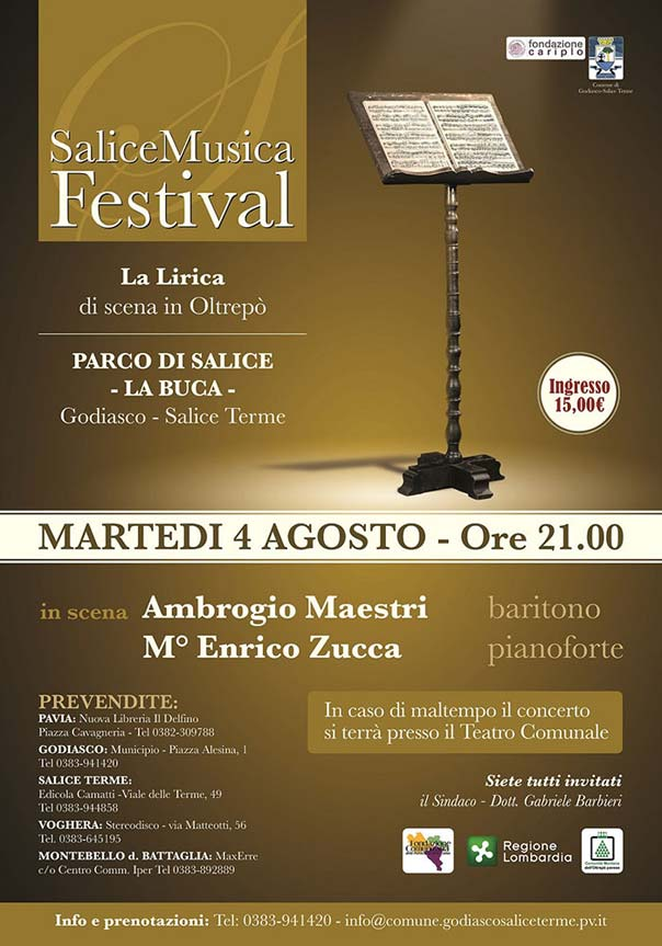 Concerto del baritono Ambrogio Maestri