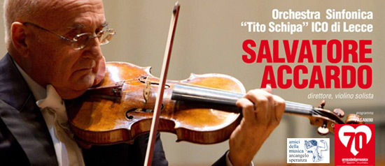 """Salvatore Accardo e Orchestra Sinfonica """"Tito Schipa"""" al Teatro Orfeo di Taranto"""