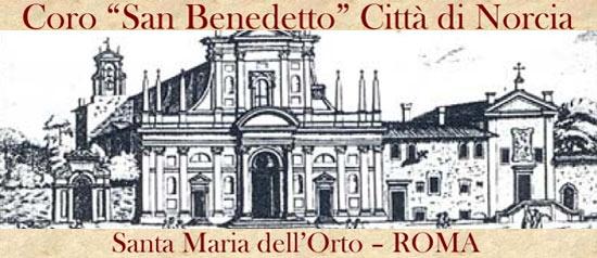 """Concerto del Coro """"San Benedetto"""" Città di Norcia a Roma"""