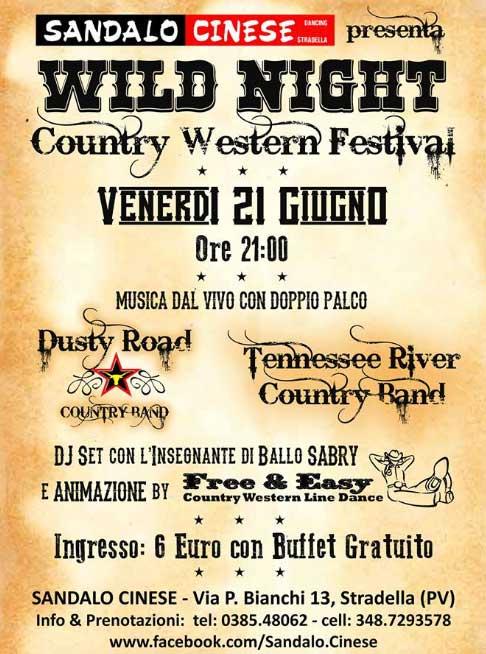 Wild Night - Country Western Festival al Sandalo Cinese a Stradella