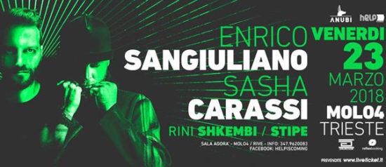 Helpiscoming with Enrico Sangiuliano e Sasha Carassi al Molo 4 a Trieste