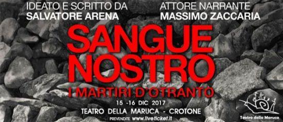 Sangue nostro, i martiri di Otranto al Teatro della Maruca a Crotone
