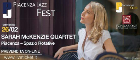 Sarah McKenzie quartet al Piacenza Jazz Fest 2017