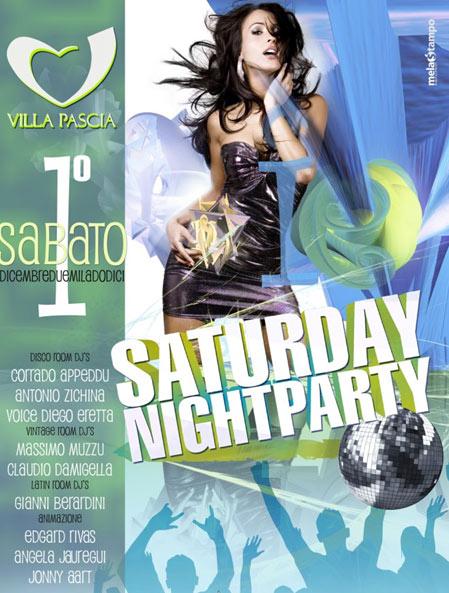 Saturday NightParty al Villa Pascià di Olbia