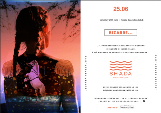 Saturday Bizzarre allo Shada Beach Club a Civitanova Marche