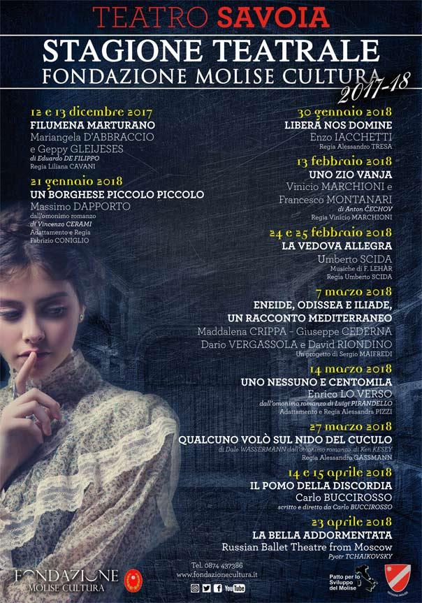 Stagione Teatro Savoia 2018