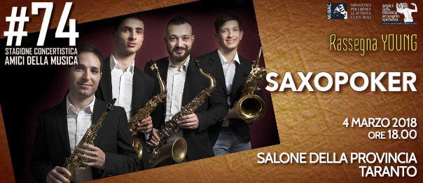 Saxopoker al Salone della Provincia di Taranto