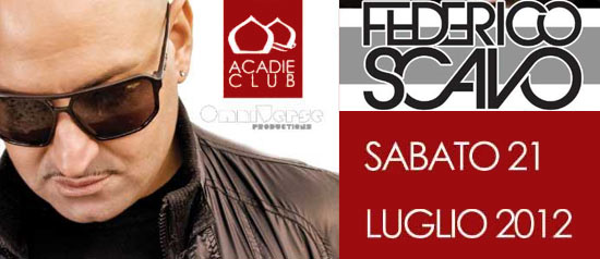 Federico Scavo all'Acadie Club di Scalea