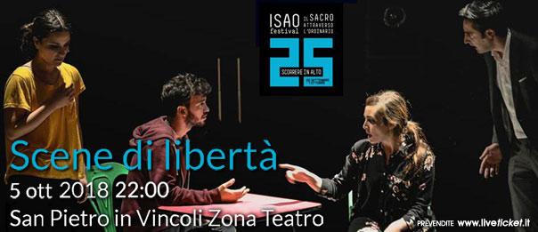 """Isao Festival """"Scene di libertà"""" al Teatro in San Pietro in Vincoli a Torino"""