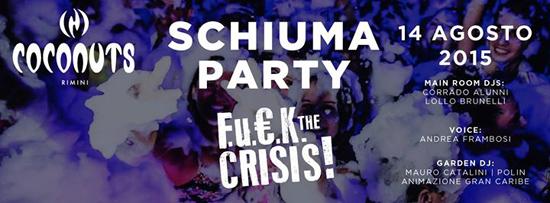 Schiuma Party al Coconuts di Rimini