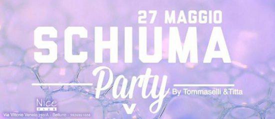 Schiuma party al Nice Club di Belluno
