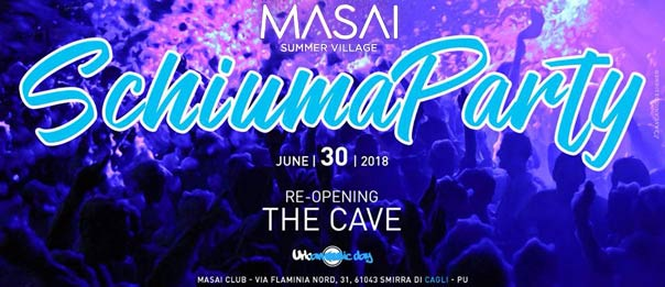 Schiuma party al The Cave - Masai Summer Village a Cagli