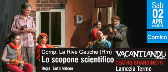 Lo scopone scientifico al Teatro Grandinetti di Lamezia Terme