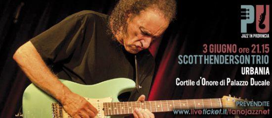 Jazz'in provincia Scott Henderson Trio al Cortile d'Onore di Palazzo Ducale di Urbania