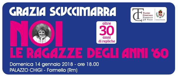 """Grazia Scuccimarra """"Noi le ragazze degli anni '60"""" al Palazzo Chigi di Formello"""