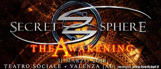 Secret Sphere - The Awakening al Teatro Sociale a Valenza