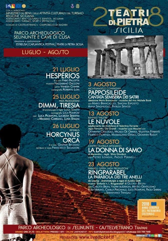 Teatri di Pietra Sicilia 2018