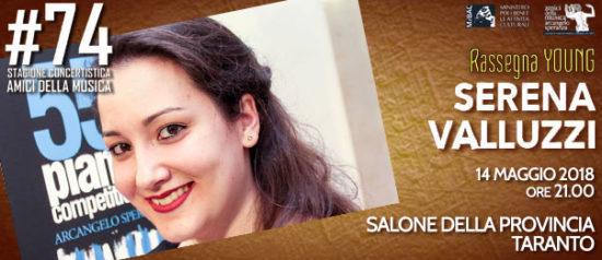 Serena Valluzzi al Salone della Provincia di Taranto