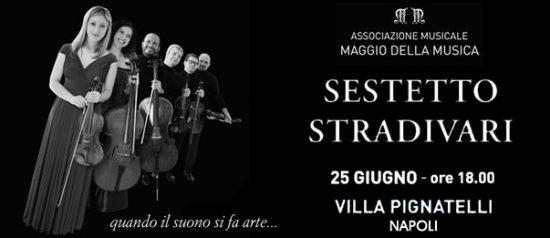 """Festival Brahmsiano"" Sestetto Stradivari a Villa Pignatelli a Napoli"