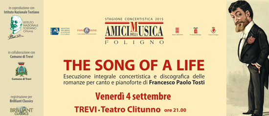 """The song of a life"" VI concerto al Teatro Clitunno di Trevi"