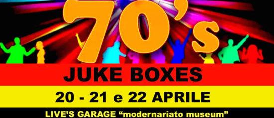 """Settanta *Jukeboxes* semplicemente i migliori al Live's Garage """"modernariato museum"""" a Roma"""