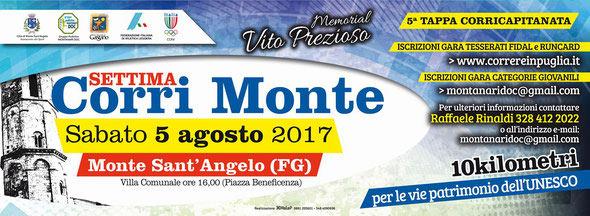 7^ Corrimonte alla Villa Comunale a Monte Sant'Angelo