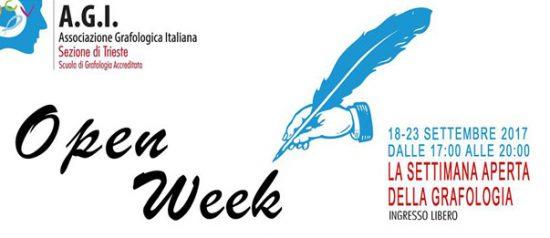 La settimana aperta della grafologia all'AGI Trieste di Trieste